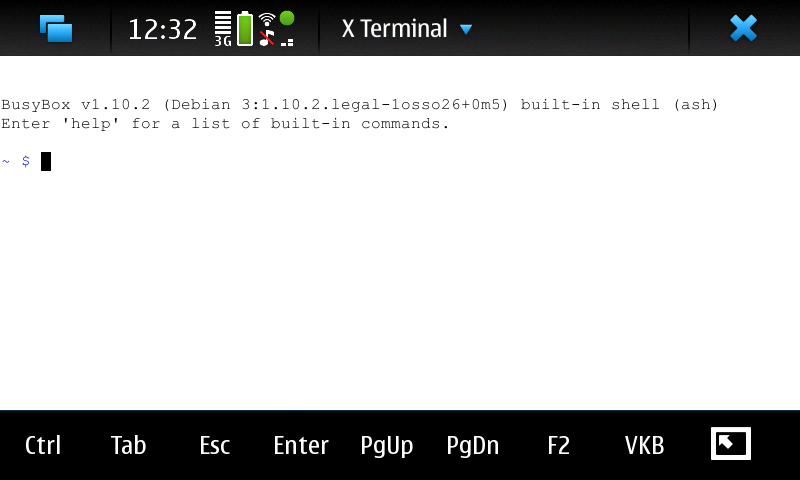N900 Terminal with new toolbar buttons
