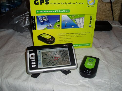 Nokia 770 and BT-308 GPS receiver